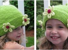 absolutely adorable knitted daisy chapeau | the knitting space