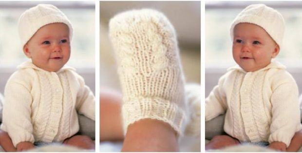 b0d777e3c Adorable Alex Knitted Baby Set  FREE Knitting Pattern