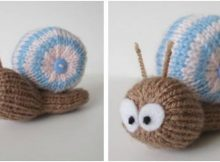 adorable Shellby knitted snail | the knitting space