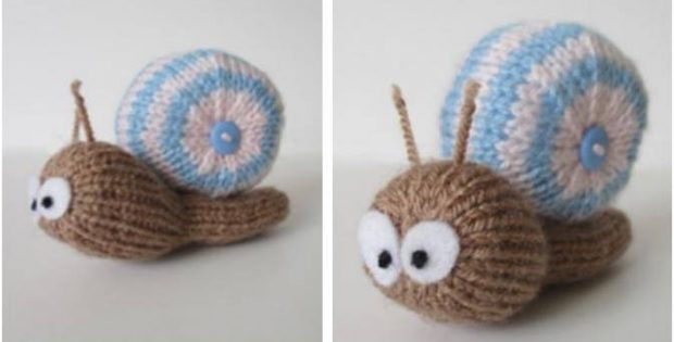 Adorable Shellby Knitted Snail FREE Knitting Pattern