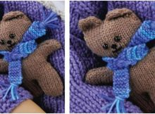 adorable heri knitted mini bear | the knitting space
