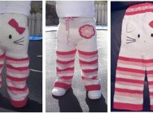 adorable kitty knitted pants | the knitting space