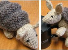 adorable knitted armadillo | the knitting space