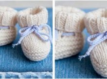 adorable knitted baby ugg booties | the knitting space