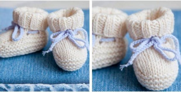 Adorable Knitted Baby Ugg Booties Free Knitting Pattern