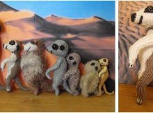 adorable knitted meerkat family | the knitting space
