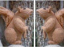 adorable knitted squirrel toy | the knitting space