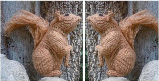 Adorable Knitted Squirrel Toy Free Knitting Pattern