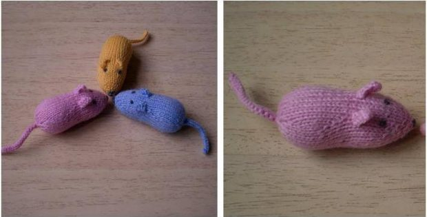 Adorable Sugar Mice Knitted Toys Free Knitting Pattern