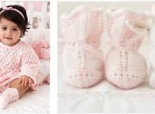 adorable sweetheart knitted baby booties | the knitting space