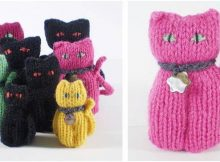 adorably lucky knitted cats   the knitting space