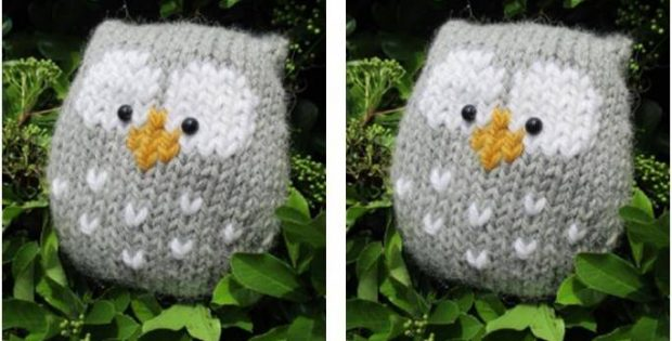 Adorably Stuffy Knitted Owl Free Knitting Pattern