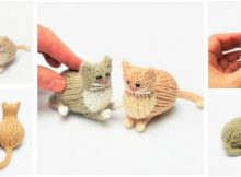 adorably tiny knitted parlor cat | the knitting space