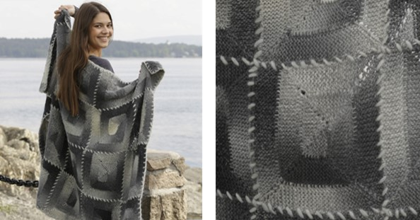 Adriadne labyrinth knitted blanket | the knitting space