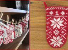 mitten garland knitted Advent calendar | the knitting space