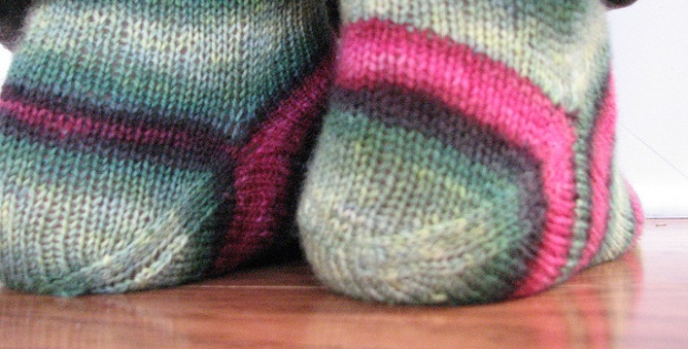 Knit Afterthought Heel Socks Free Pattern Video
