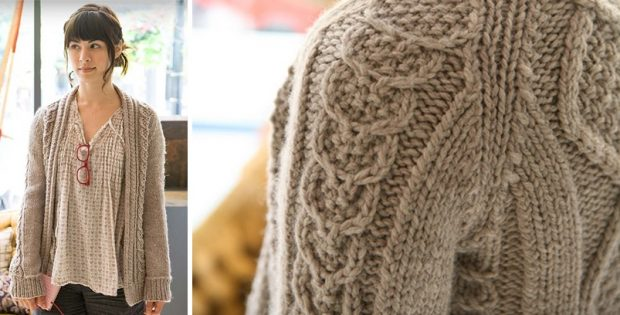 Cozy Aidez Knitted Cardigan Free Knitting Pattern
