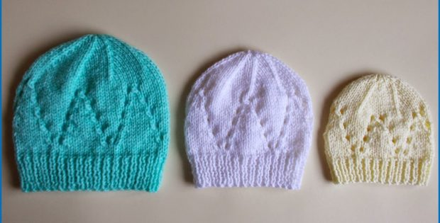 All In One Matching Knitted Baby Hat Free Knitting Pattern