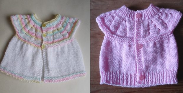 45932c5c230 All-In-One Knitted Baby Tops  FREE Knitting Patterns