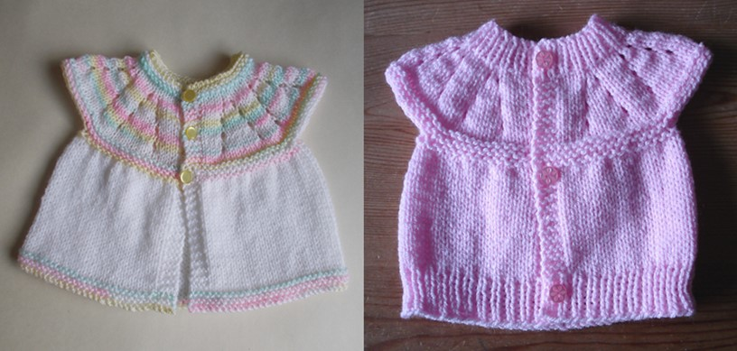 All In One Knitted Baby Tops Free Knitting Patterns