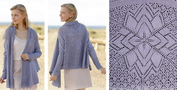 Knitting Pattern Lace Jacket : Altair Knitted Square Lace Jacket [FREE Knitting Pattern]