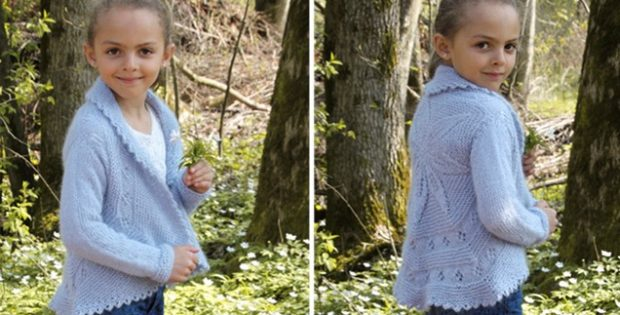 Knitting Jacket For Girl : Alvina knitted jacket for a little lady free knitting pattern
