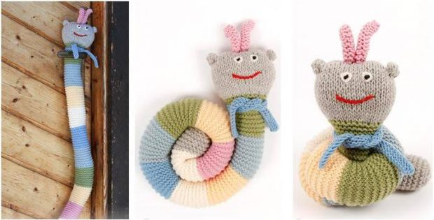 awesome Arnie knitted caterpillar | the knitting space