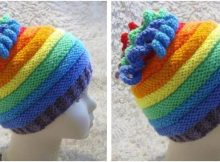 awesome Whirlygig knitted rainbow hat   the knitting space