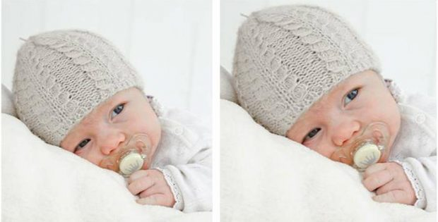 baby Akorn knitted cable hat | the knitting space