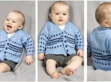 baby blooms knitted cardigan | the knitting space