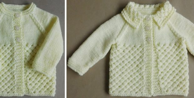 3fbd27d75 Danika Knitted Baby Cardigan  FREE Knitting Pattern