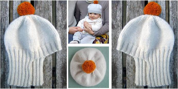 dff021e5ee2 Adorable Knitted Baby Chariot Hat  FREE Knitting Pattern