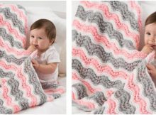 baby girl knit chevron blanket | the knitting space