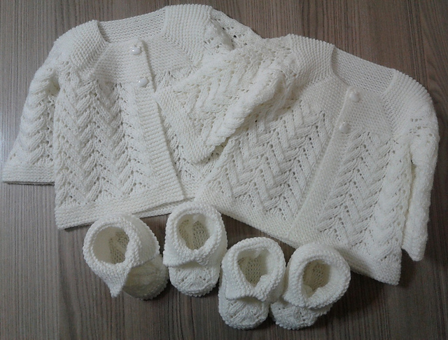Knitted Baby Lace Cardigan Free Knitting Pattern