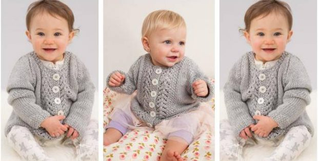 Baby Lace Knitted Cardigan Free Knitting Pattern
