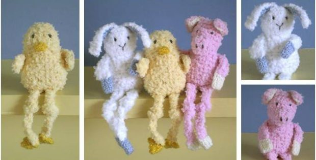 Baby Long Legs Knitted Toys Free Knitting Pattern