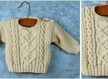 baby poonam knitted sweater | the knitting space