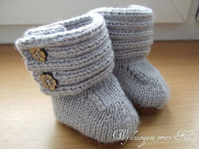 Knitted Baby Ugg Booties Free Pattern Video Tutorials
