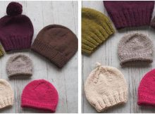basic beginner knitted hats | the knitting space