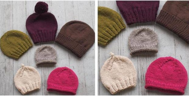Basic Beginner Knitted Hats [FREE Knitting Pattern]