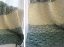 basket weave knitted baby blanket   the knitting space