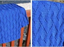 basket weave knitted scarf | the knitting space