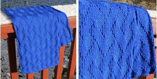 Basket Weave Knitted Scarf Free Knitting Pattern