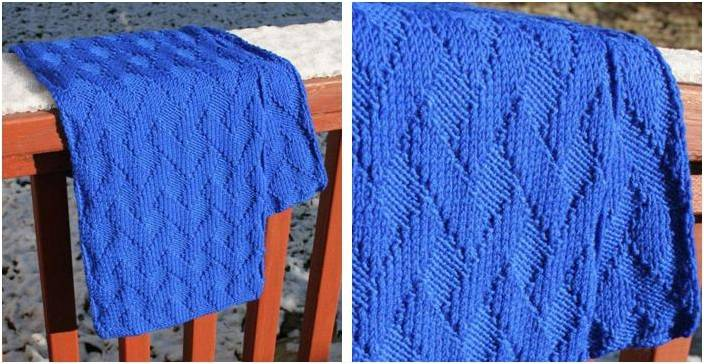 Basket Weave Knitted Scarf Paid Knitting Pattern