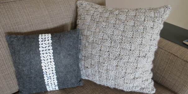 Knit Basket Weave Pillow Free Knitting Pattern