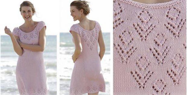 Beach Date Knitted Lace Dress Free Knitting Pattern