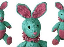 beaming bunny knitted toy | the knitting space