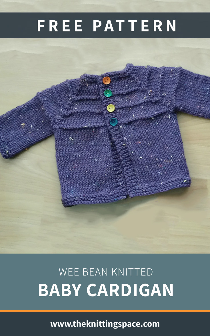 bean knitted baby cardigan