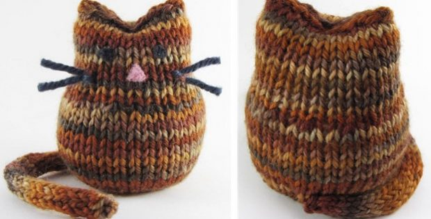 super cute Beans knitted cat | the knitting space