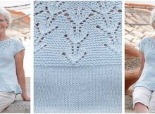beauteous Blue Sparkle knitted top | the knitting space